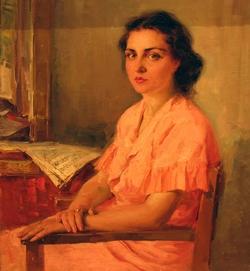 Беседин Женский портрет 1953