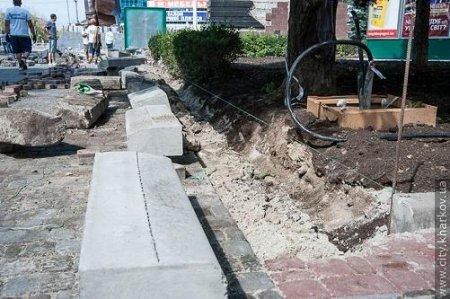 Сквер на 23 Августа на ремонте (ФОТО)