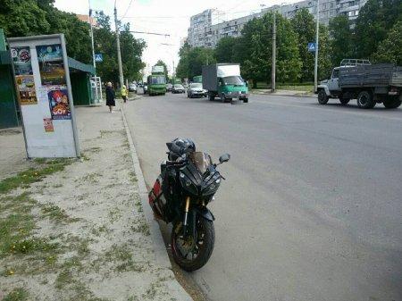 Мотоцикл сбил пешехода (фото)